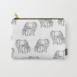 Little Line Horse Carry-All Pouch
