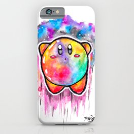 Cute Galaxy KIRBY - Watercolor Painting - Nintendo iPhone Case