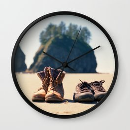 Dirty Shoes Happy Soles Wall Clock