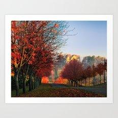 Autumn Ohio country roads Art Print