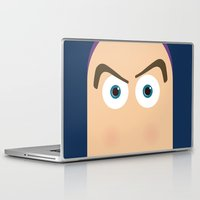 toy story Laptop & iPad Skins featuring PIXAR CHARACTER POSTER - Buzz Lightyear - Toy Story by Marco Calignano