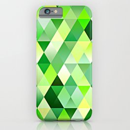 Lime Green Yellow White Diamond Triangles Mosaic Pattern iPhone Case