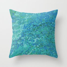 Tropical Waters Throw Pillow