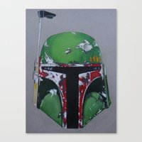 boba Canvas Prints featuring Boba by Mowgli Tattoo