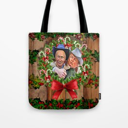 Trump Putin Christmas Tote Bag