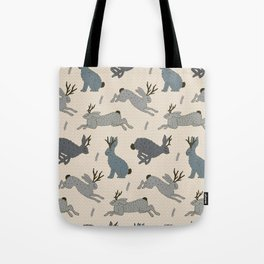 Jackalope Snow Parade Tote Bag