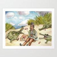 Hot Dog Beach Art Print