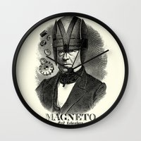 magneto Wall Clocks featuring MAGNETO by DIVIDUS
