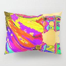 Rainbow Abstract Daisy Pillow Sham