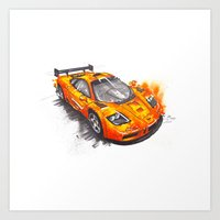 f1 Art Prints featuring McLaren F1  by Claeys Jelle Automotive Artwork