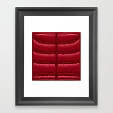 Abstract Red Quilt    Framed Art Print