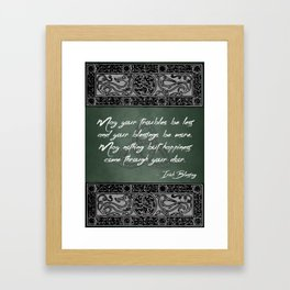 Irish Home Blessing Framed Art Print