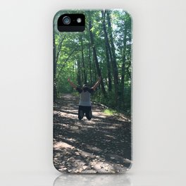Jumping through life obstacles iPhone Case