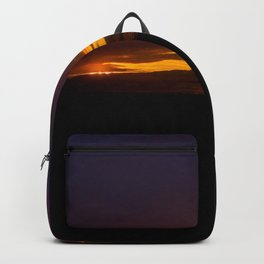 mahinapua sunset over the clouds vertical drone colors Backpack