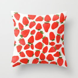 Some Strawberries Throw Pillow