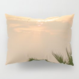 cloudy sky in the oasis Pillow Sham