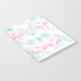 Flamingos and Monsteras Camo Notebook