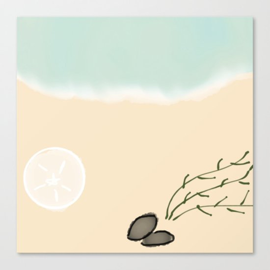 Down By The Seashore Canvas Print