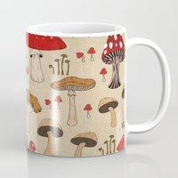 mushrooms Mugs featuring Mushrooms by Lynette Sherrard Illustration and Design