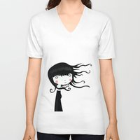 wind V-neck T-shirts featuring Wind by Volkan Dalyan