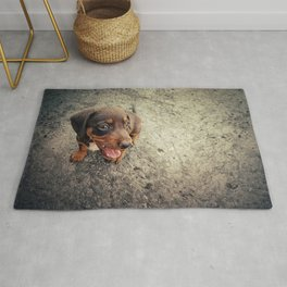 funny puppy Rug