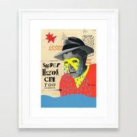 superheros Framed Art Prints featuring superheros cry too by crayon dreamer