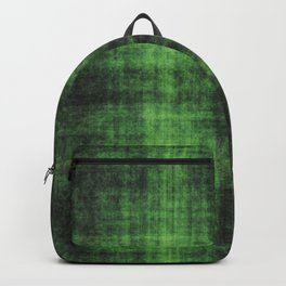 Distressed Green Check Pattern Abstract Backpack