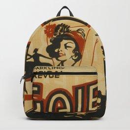 Gaieties of 1936 vintage poster Backpack
