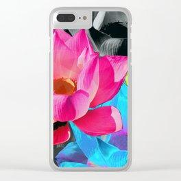 Lotus Pop Clear iPhone Case