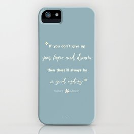 SHINEE Minho Quote iPhone Case