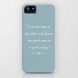 SHINEE Minho Quote iPhone Case