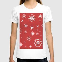 Red Winter Dream #2 #snowflakes #decor #art #society6 T-shirt