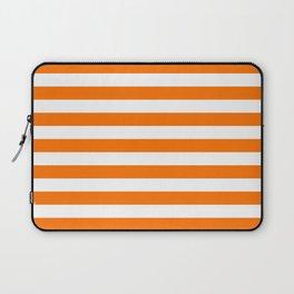 Turmeric Orange Beach Hut Horizontal Stripe Fall Fashion Laptop Sleeve
