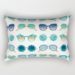 Sunglasses Collection – Turquoise & Navy Palette Rectangular Pillow