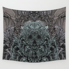 Skull Peaces Wall Tapestry