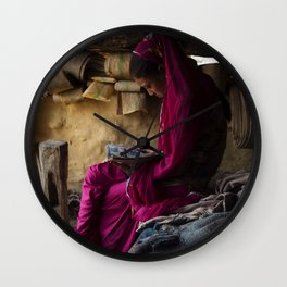 Nepalese Girl Wall Clock