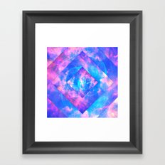 Diamond Galaxy Framed Art Print