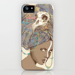 Queen of Clubs iPhone Case