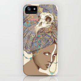 Queen of Clubs iPhone Case