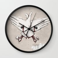 rap Wall Clocks featuring Rap Won't Save You by Davies Babies