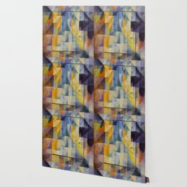 "Robert Delaunay ""Simultaneous Windows onto the City"" (1st Part, 2nd Motif, 1st Replica) Wallpaper"