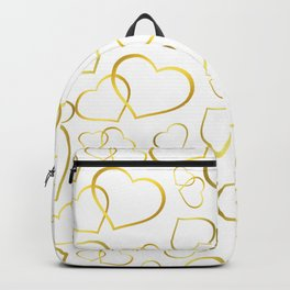heart pattern gold large, gift idea Backpack
