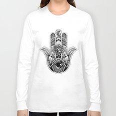Hamsa Hand Pug Long Sleeve T-shirt