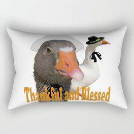 Thankful and Blessed Thanksgiving Pilgrims Rectangular Pillow