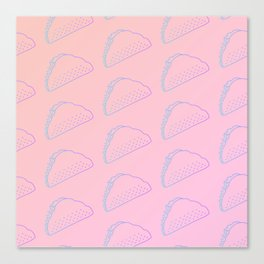 Taco Tuesday Pattern Canvas Print