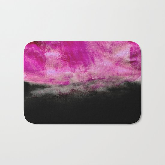 Magenta & Black Bath Mat