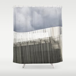 Waterfront Building Shower Curtain
