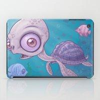 sea turtle iPad Cases featuring Sea Turtle by John Schwegel