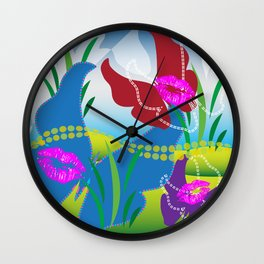 Butterfly Kisses Toyism Wall Clock