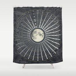 Phases // Moon Calendar 2017 Shower Curtain
